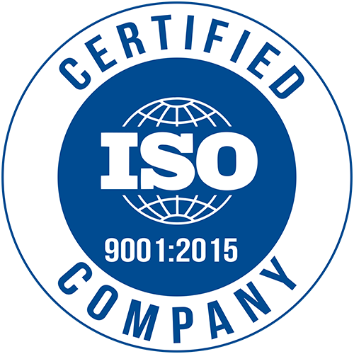 Official ISO 9001:2015 Certification logo - Commitment to Quality