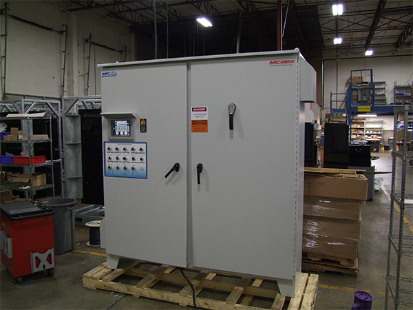 MCI custom control solution with doors closed.