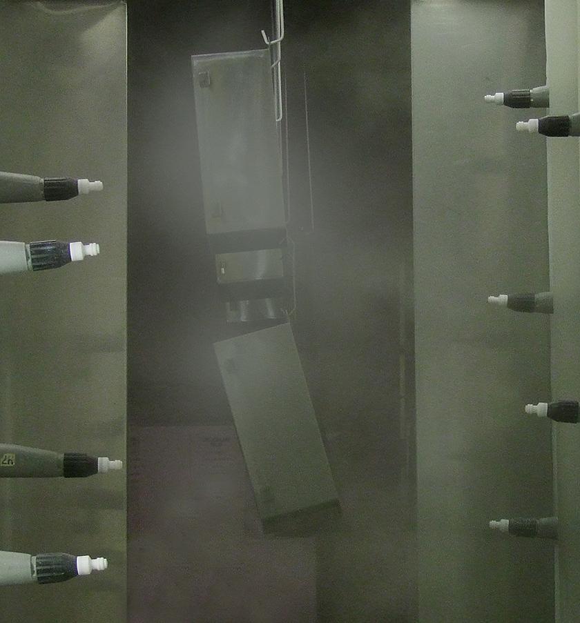 Image of MCI's Powder Coating process