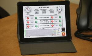 Remote monitoring demonstration on Apple iPad