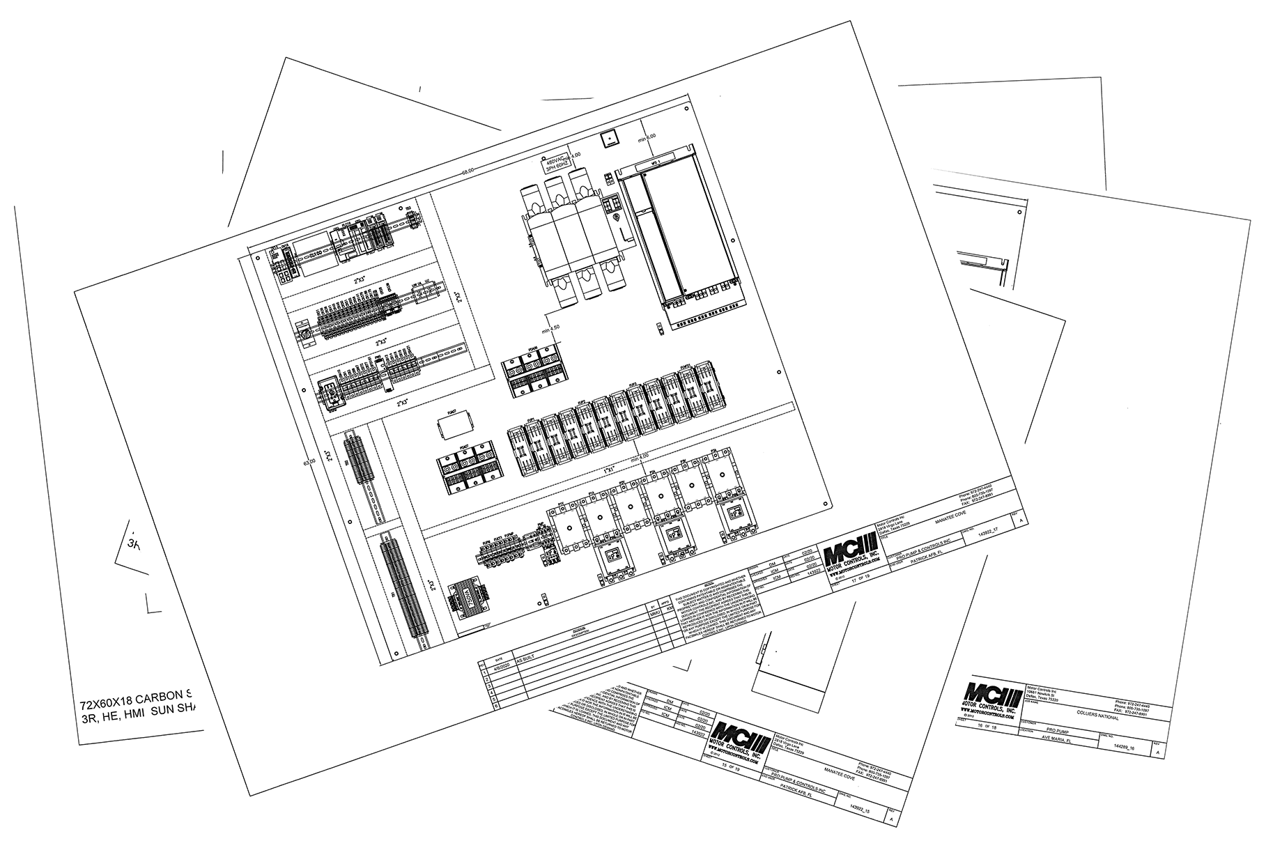 Control panel schematic drawings