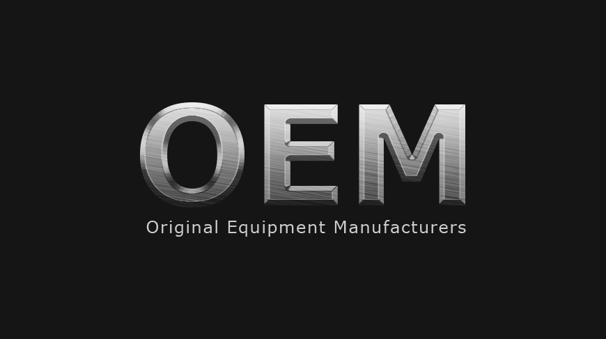 Graphic with text OEM original equipment manufacturers
