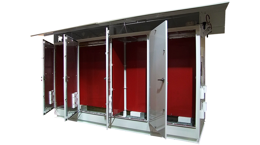 Image of a structural rack solution showing MCI's structural capability.