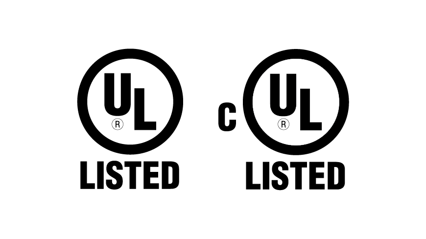 Images of UL Listed Certification logos