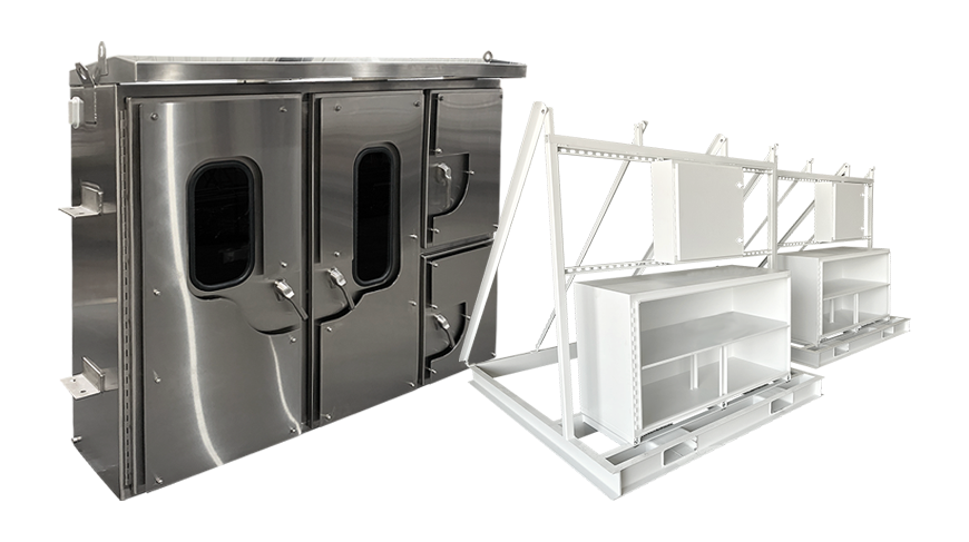 Image showing MCI's Enclosure and Structural manufacturing capability.